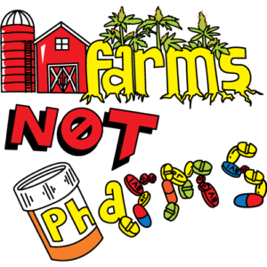 Farms Not Pharms™ Sticker